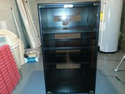Black Lighted Shelving Unit